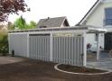 Wiata garażowa  WDP 001 - 29 m²( 17 m² + 12 m²)