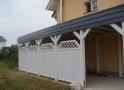 Wiata garażowa  PDP 004 - 32 m²( 24 m²+ 8 m²)